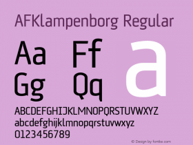 AFKlampenborg Regular 001.000 Font Sample