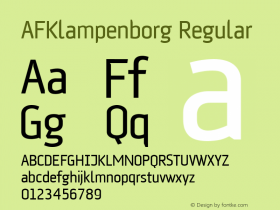AFKlampenborg Regular Version 1.00 Font Sample