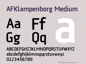 AFKlampenborg Medium Version 1.00 Font Sample