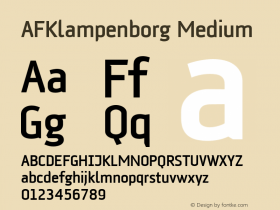 AFKlampenborg Medium 001.000 Font Sample