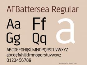 AFBattersea Regular 001.000 Font Sample