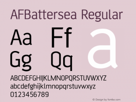 AFBattersea Regular Version 001.000图片样张