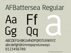 AFBattersea Regular Version 1.00 Font Sample