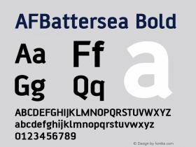 AFBattersea Bold Version 1.00 Font Sample