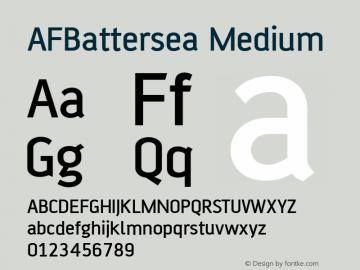 AFBattersea Medium Version 1.00 Font Sample