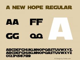 A New Hope Regular 1.0图片样张