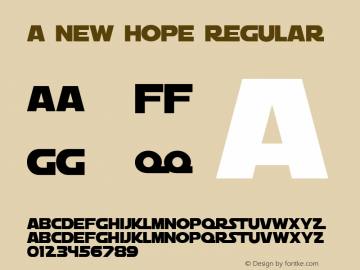 A New Hope Regular 1.0 Font Sample
