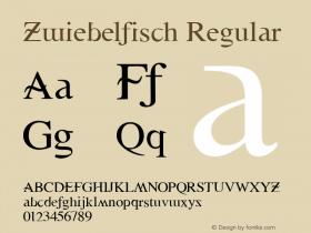 Zwiebelfisch Regular 1.0 2004-06-13 Font Sample