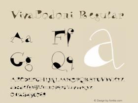 VivaBodoni Regular 1.0 2004-06-13 Font Sample
