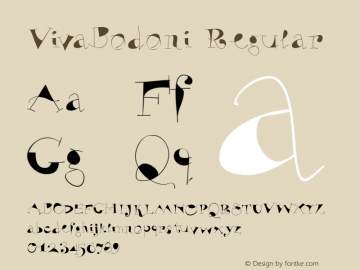 VivaBodoni Regular 1.0 2004-06-13 Font Sample