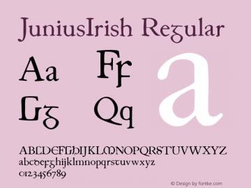 JuniusIrish Regular 1.0 2004-06-13图片样张