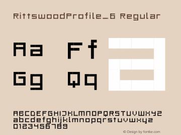 RittswoodProfile_6 Regular 1.0 Font Sample