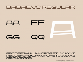 BabaevC Regular 001.000 Font Sample