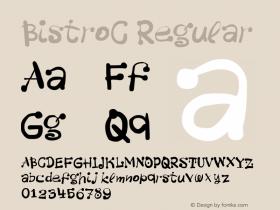 BistroC Regular 001.000 Font Sample