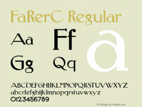 FaRerC Regular 001.000 Font Sample