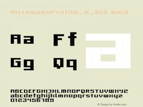 RittswoodProfile_6_bld Bold 1.0 Font Sample