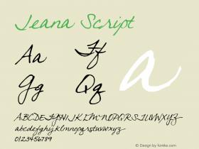Jeana Script 2000; 1.0, initial release图片样张