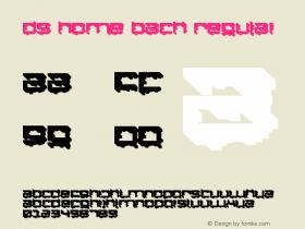 DS Home Back Regular Macromedia Fontographer 4.1 18.10.2001 Font Sample