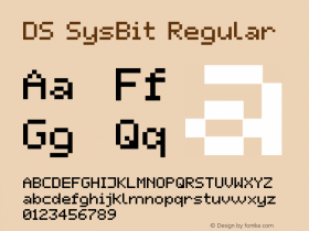 DS SysBit Regular Macromedia Fontographer 4.1 22.10.2001 Font Sample