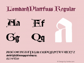 LombardPlattfuss Regular 1.0 2004-06-17 Font Sample