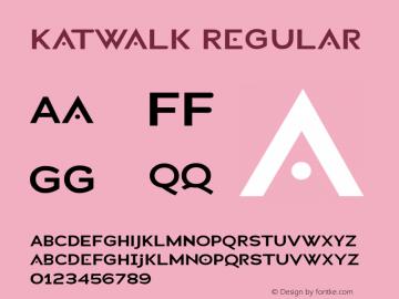 Katwalk Regular Macromedia Fontographer 4.1.4 2/27/04 Font Sample