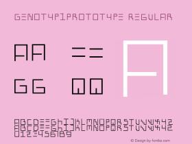 GenotypiPrototype Regular 1.0 2004-06-18 Font Sample