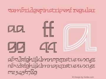 CambridgePinstripeNF Regular Version 1.00 Font Sample