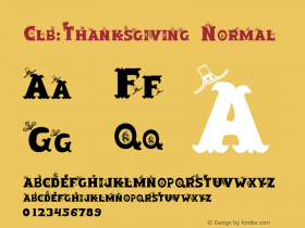 Clb:Thanksgiving Normal 1.0 Wed Oct 04 10:02:36 1995 Font Sample