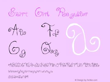 Skirt Girl Regular Macromedia Fontographer 4.1 6/19/2004 Font Sample