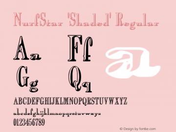 NurfStar 'Shaded' Regular 1.0; 7-28-2003 Font Sample