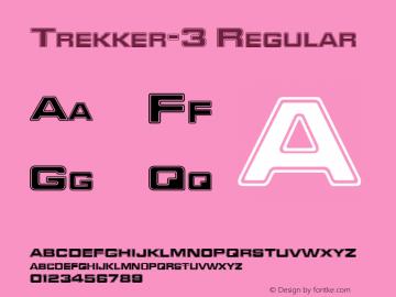 Trekker-3 Regular Publisher's Paradise -- Media Graphics International Inc. Font Sample