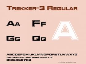 Trekker-3 Regular The IMSI MasterFonts Collection, tm 1995, 1996 IMSI (International Microcomputer Software Inc.) Font Sample