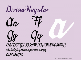 Divina Regular Macromedia Fontographer 4.1.5 6/21/04 Font Sample