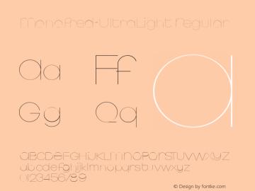 Monofred-UltraLight Regular 1.1 2004-06-22 Font Sample