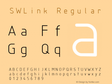 SWLink Regular Macromedia Fontographer 4.1 09/13/01 Font Sample