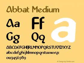 Abbat Medium 1.0 Fri Nov 12 15:28:20 1993 Font Sample
