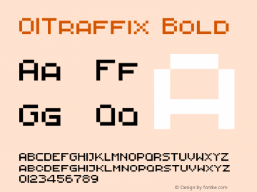 01Traffix Bold 1.00 Font Sample