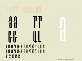 Exit Regular Version 001.000 Font Sample