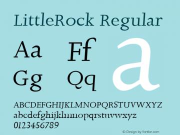LittleRock Regular 1.0 2004-06-24 Font Sample