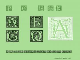 Picto Glyphs AltC Regular 1.0; 8-4-2003 Font Sample