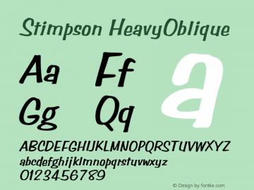Stimpson HeavyOblique Rev. 003.000 Font Sample