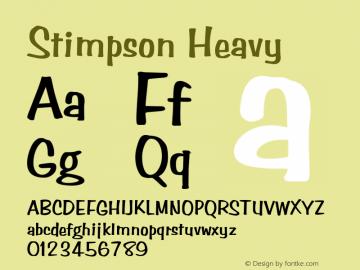 Stimpson Heavy Rev. 003.000 Font Sample