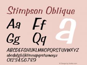 Stimpson Oblique Rev. 003.000 Font Sample