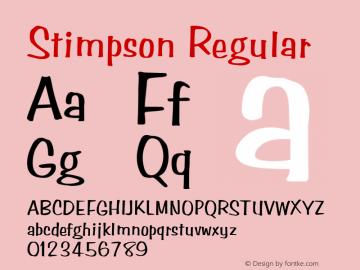 Stimpson Regular Rev. 002.001 Font Sample