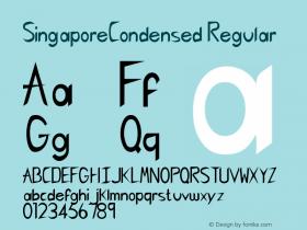 SingaporeCondensed Regular Rev. 003.000 Font Sample