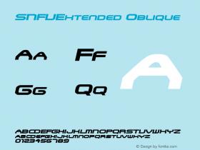 SNFUExtended Oblique Rev. 003.000 Font Sample