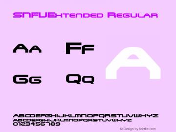 SNFUExtended Regular Rev. 003.000 Font Sample