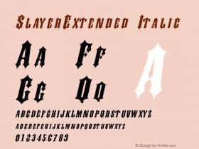 SlayerExtended Italic Rev. 003.000图片样张