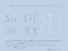 StencilSetExtendedOutline Regular Rev. 003.000 Font Sample