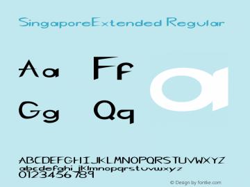 SingaporeExtended Regular Rev. 003.000 Font Sample
